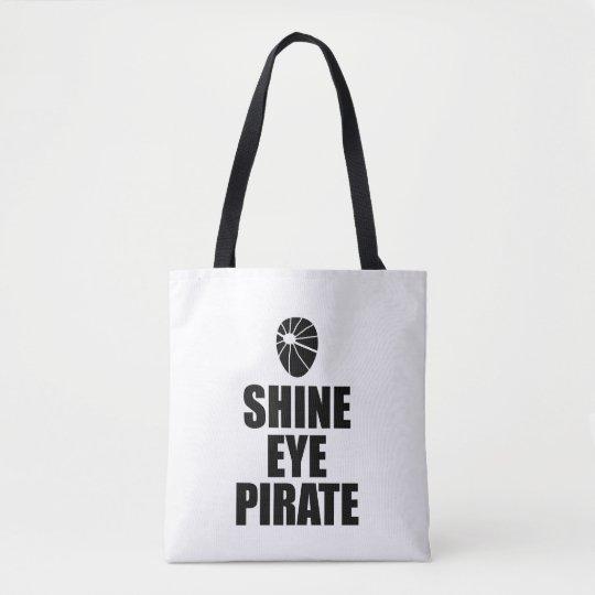 Eyepatch del pirata del ojo del brillo. Texto Bolsa De Tela