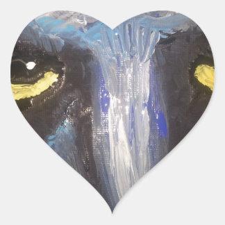 eyes.jpg amarillo calcomanía de corazón personalizadas
