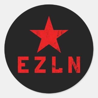EZLN - Ejército Zapatista de Liberación Nacional Etiquetas Redondas