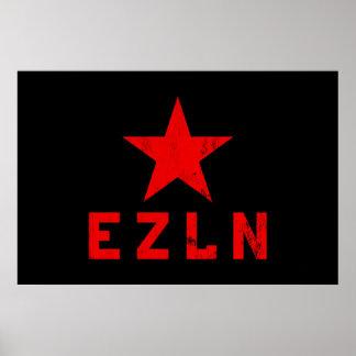 EZLN - Ejército Zapatista de Liberación Nacional Póster