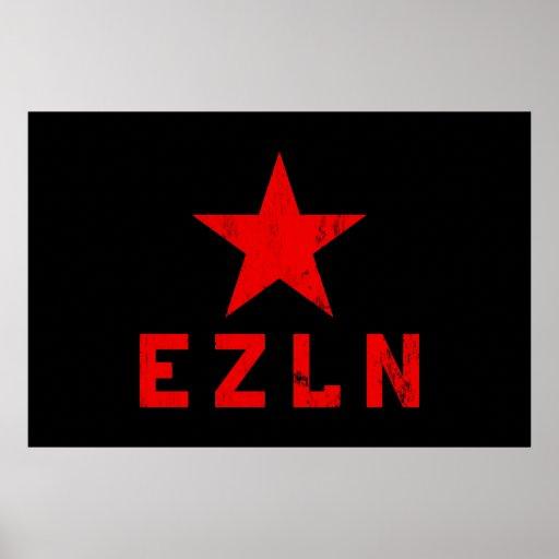 EZLN - Ejército Zapatista de Liberación Nacional Posters