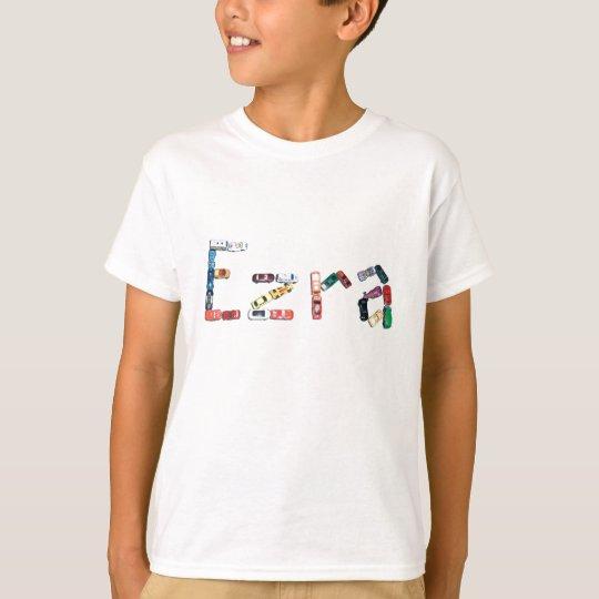 Ezra en coches de carreras camiseta