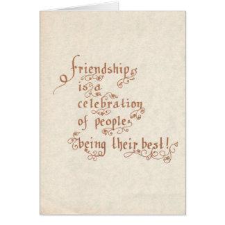 F03: La amistad es una celebración Tarjeta De Felicitación