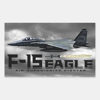F-15 Eagle Pegatina Rectangular