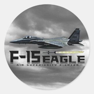 F-15 Eagle Pegatina Redonda