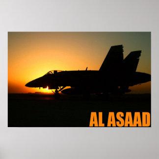 F-18 en el Al Asaad Póster