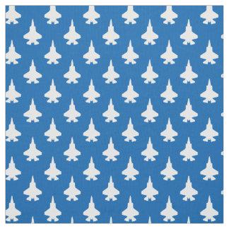 F-35 azul blanco del modelo de los aviones de tela