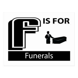 F está para los entierros postal