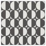 Fabric Formas Geométricas Pattern Blanco y Negro Tela