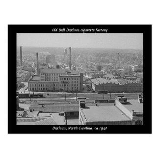 Fábrica de cigarrillo vieja de Bull Durham Postal