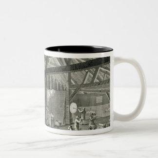 Fábrica de la vidriería de la enciclopedia por taza de café