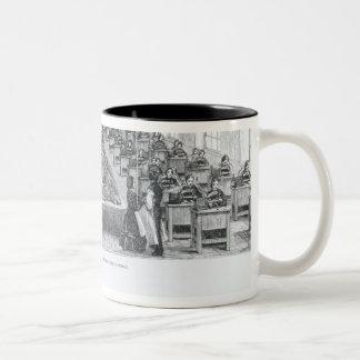 Fábrica de zapato taza de café