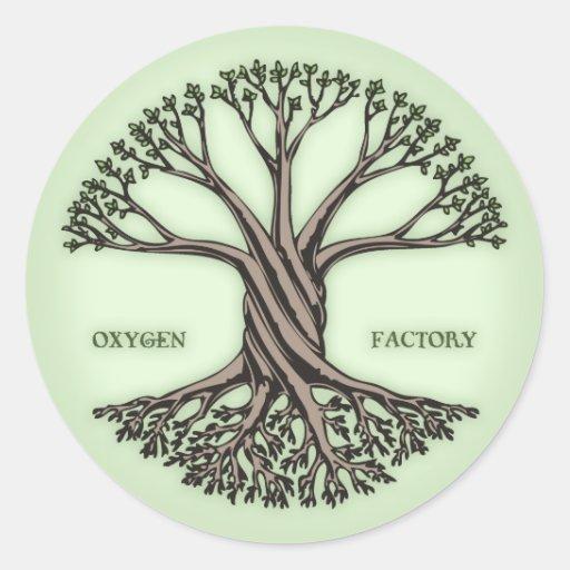 Fábrica del oxígeno pegatina