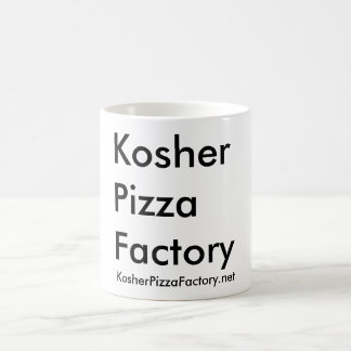 Fábrica kosher de la pizza taza de café