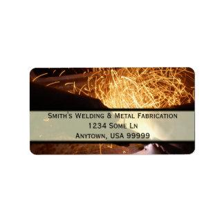 Fabricación de metal y etiqueta de dirección de la