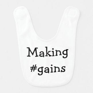 Fabricación del babero del bebé de los #gains