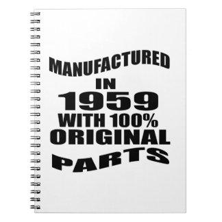 Fabricado en 1959 con las piezas de la original cuaderno