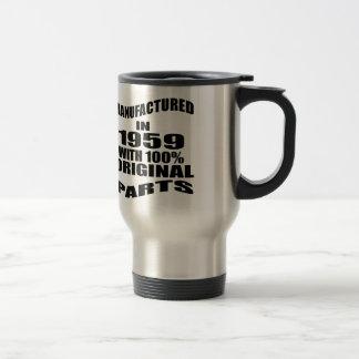 Fabricado en 1959 con las piezas de la original taza de viaje
