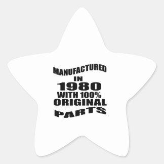 Fabricado en 1980 con las piezas de la original pegatina en forma de estrella