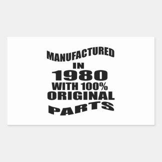 Fabricado en 1980 con las piezas de la original pegatina rectangular