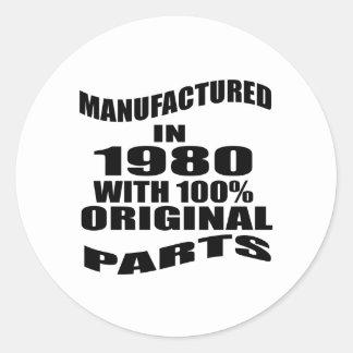 Fabricado en 1980 con las piezas de la original pegatina redonda