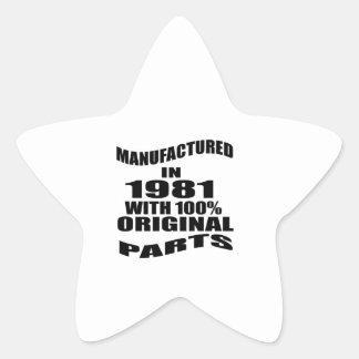 Fabricado en 1981 con las piezas de la original pegatina en forma de estrella