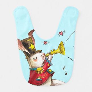 ¡Fabricante de la música! Conejo Baberos