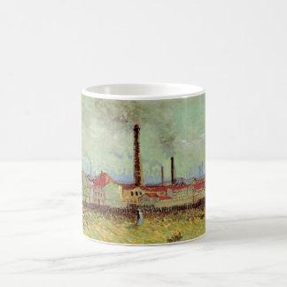 Fábricas de Van Gogh en Asnieres, bella arte del Taza Clásica