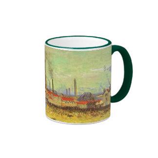 Fábricas en Asnieres, Van Gogh, bella arte del Taza De Dos Colores