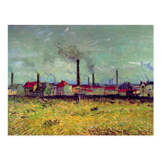Fábricas en Asnières, Vincent van Gogh Postal