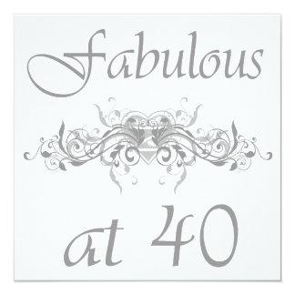 Fabuloso en 40 años invitaciones personales