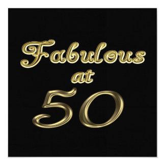Fabuloso en la invitación de 50 fiestas