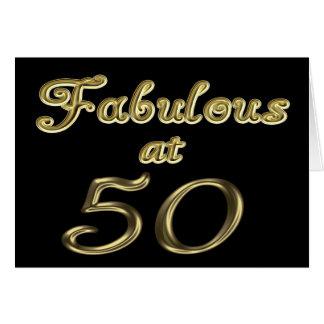 Fabuloso en la tarjeta de felicitación 50