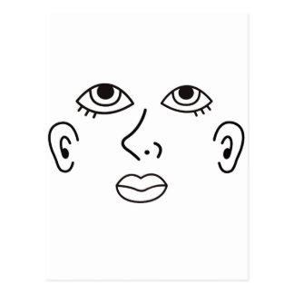 face jpg tarjeta postal