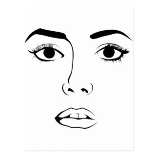 Face of Woman Postales
