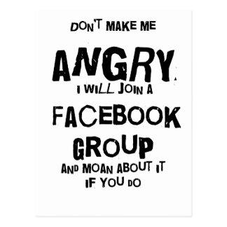 facebook enojado postal