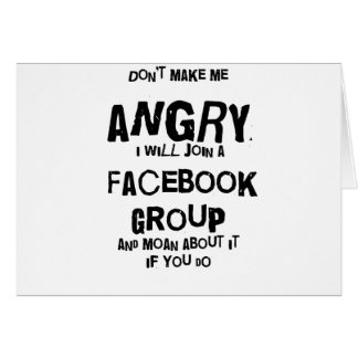 facebook enojado tarjeta de felicitación