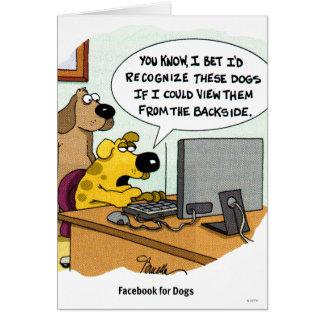 Facebook para los perros tarjetas