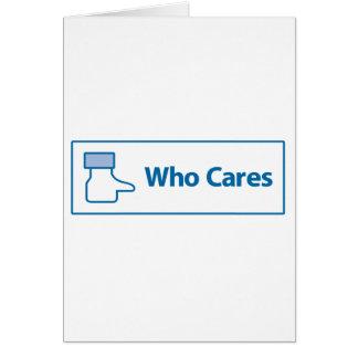 Facebook que cuida tarjeta de felicitación