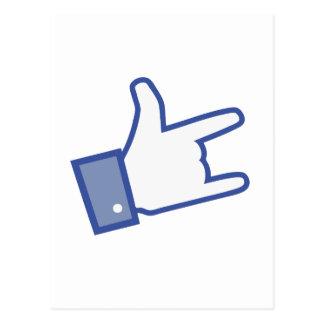 Facebook tiene gusto de usted de oscilar el icono postal