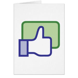 Facebook tiene gusto del botón tarjeton