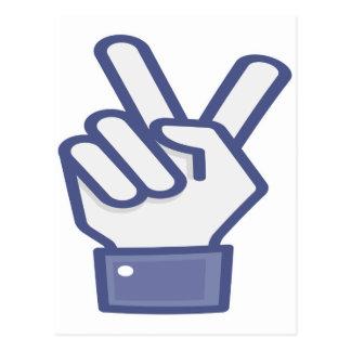 Facebook tiene gusto del signo de la paz postal