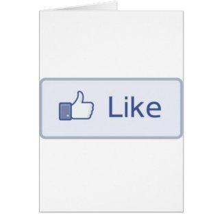 Facebook tiene gusto felicitación