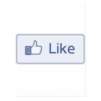 Facebook tiene gusto postales