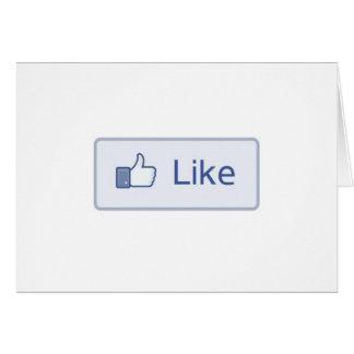 Facebook tiene gusto tarjetas