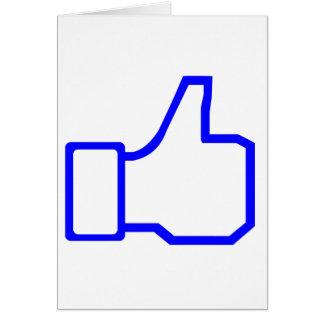 Facebook tiene gusto felicitacion