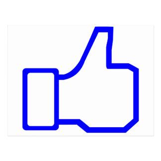 Facebook tiene gusto tarjeta postal