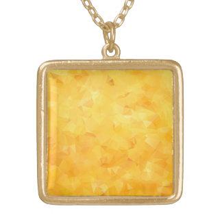 Faceta de oro amarilla del Beryl Colgante Cuadrado