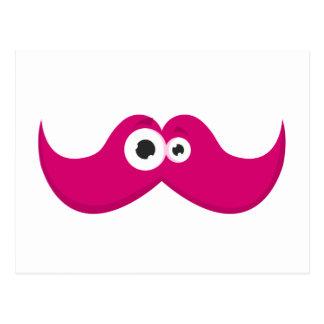 Facetache rosado - el bigote con una cara postal