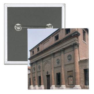 Fachada del Teatro Accademico (foto) Chapa Cuadrada 5 Cm